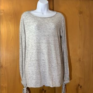 ZARA knit poly/cotton lightweight grey sweater